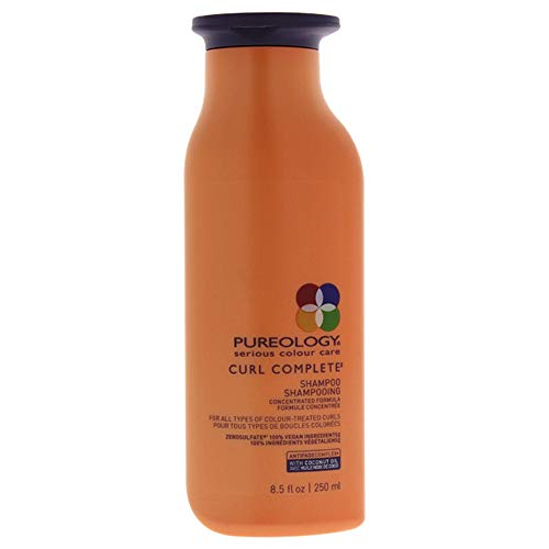 Pureology Curl Complete Cleansing Shampoo | Revives Curls & Controls Frizz | Sulfate-Free | Vegan | 8.5 oz.