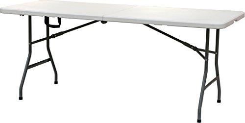 Mesa Catering Plegable 180 cm - Mesa Buffet Camping Plegable con asa