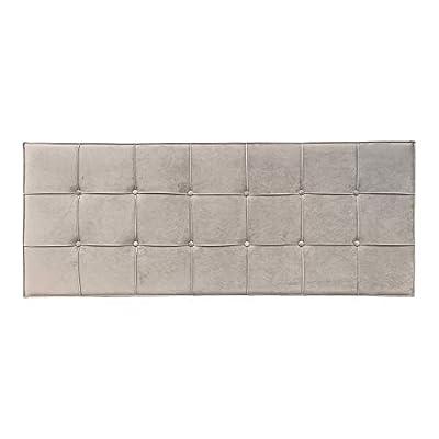 Esta fabricado con: tejido de terciopelo. Sus medidas son: 160x7x64 cm. Encaja en ambientes de estilo: contemporáneo, clásico, moderno. Un producto recomendado para uso en dormitorio. Material: Terciopelo (100% poliéster). Relleno: Foam. Gramaje del ...