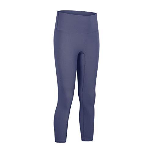 Lihcao Pantalones de yoga para mujer, cintura alta, adelgazante, pantalones de fitness (color: gris lila, talla: 10)