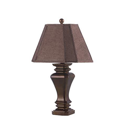 Iluminación Lámpara de tabla de la resina base de la lámpara de la lámpara de cabecera for la mesilla de noche Mesilla de noche moderna Lámpara Brown Sombra Habitación Sala Mesilla Lamparas
