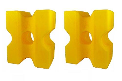 """Cavaletti-Block \""""Cona\"""" 2er-Set gelb"""