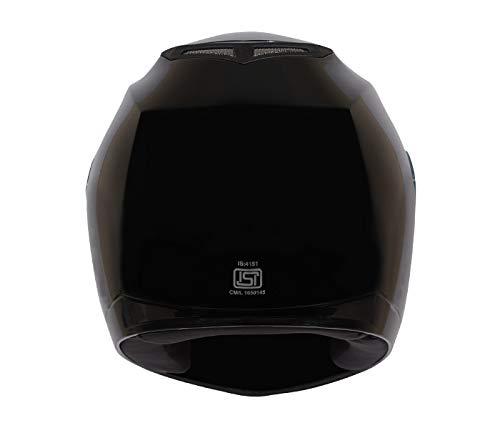 Vega ABS Edge Full Face Helmet (Black, Large)