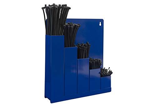 Kabelbinder-Ordnungsbox, blau - mit 5 x 100 Kabelbinder verschiedene grossen.