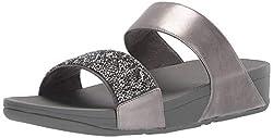 Pewter Sparklie Crystal Slide Sandal