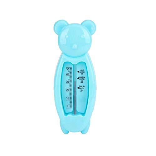 tJexePYK Oso de la Historieta del bebé Termómetro de baño Aguas de baño Flotante medir la Temperatura del Juguete Usado en la bañera y la Piscina del niño recién Nacido Accesorios de baño Azul