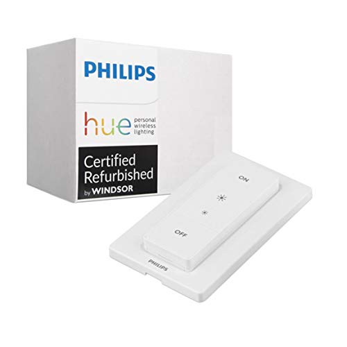 Philips Hue Smart Dimmer Switch with Remote - Installation-Free, Exclusive for Philips Hue Lights, Compatible with Alexa