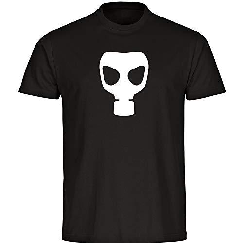 Shirtzshop - Maglietta da uomo con simbolo della maschera del gas, taglia S - 5XL, coronaviren covid 19 covid-19 Viren Virus Quarantäne Nero  XXXXL