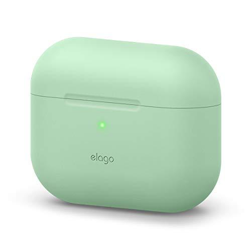 elago Étui Original Compatible avec Apple AirPods Pro, Coque de Protection, Silicone de Haute Qualité [Test d'ajustement] - sans Mousqueton (Vert Pastel)