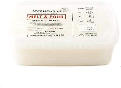 Stephenson - Base de jabón para derretir y verter (1 kg)