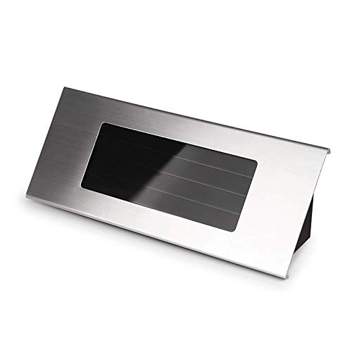 Luz solar con número de casa, Lámpara de pared LED para exteriores de acero inoxidable,Tendlife Luz de puerta delantera con placa de puerta