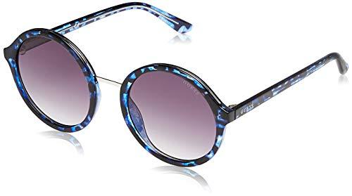 Guess GU7558 5492B Guess zonnebril GU7558 92B 54 rond zonnebril 54, blauw