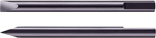 Bergeon 6899-T-140, 2 stuks. Roestvrijstalen reservemessen voor horlogemaker schroevendraaier, Ø 1,40 mm, grijs
