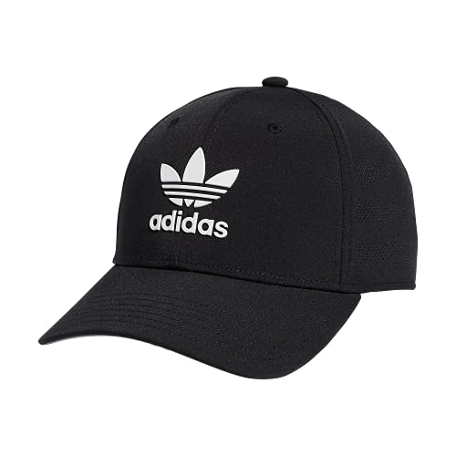 adidas Originals Men's Beacon 4.0 Structured Precurve Snapback Cap, Black/White, One Size