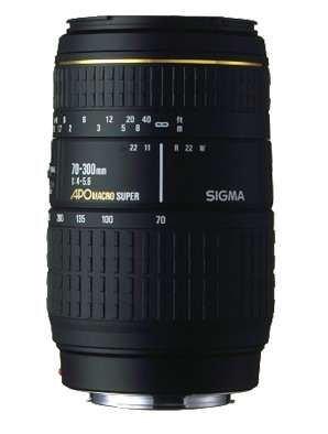 Sigma 70-300/4,0-5,6 APO/DG/DL/Macro/Super II Objektiv