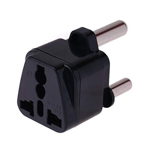 Electronic Accessories LZW zócalo universal portátil a (grande) Sudáfrica enchufe del adaptador de cargador de viaje (Negro) (Color : Black)
