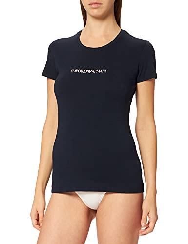 Emporio Armani Iconic Logoband Camiseta, Marine, XS para Mujer