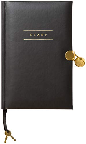 "C.R. Gibson Leatherette Black Five Year Personal Diary with Lock, 192 Pages, 5.6"" x 8.75"" (D5-18812)"