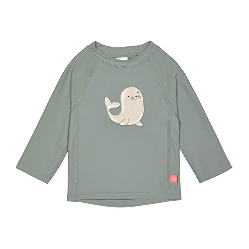 LÄSSIG Baby Kinder Schwimmshirt Badeshirt Langarm UV-Schutz/Splash & Fun Long Sleeve Rashguard Seal green, 12 mo