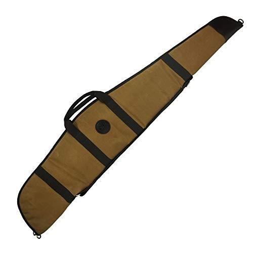 WAYNE'S DOG Canvas Leather 52' Rifle Gun Case, Soft Padded...