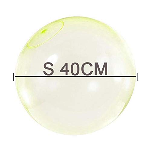 XiaoOu Amazing Bubble Ball L/M/S 120-40cm Children Outdoor Soft Air Water Filled Balloon Party Game for Kids Bath Toy Bubble Ball,S Yellow