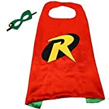 Super Hero and Princess Cape and Mask Set (Robin) Red