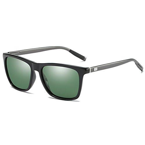 Expresstech @ Gafas de Sol Polarizadas Unisex Protección UV400 para Hombres y Mujeres Conducir Pescar IR en Bicicleta Esquiar Golf Aire Libre Viajes Playa - Lentes Verde Oscuro