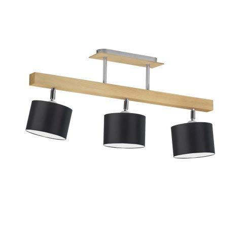 HOLLYWOOD - Lámpara de techo (marco de roble), color negro