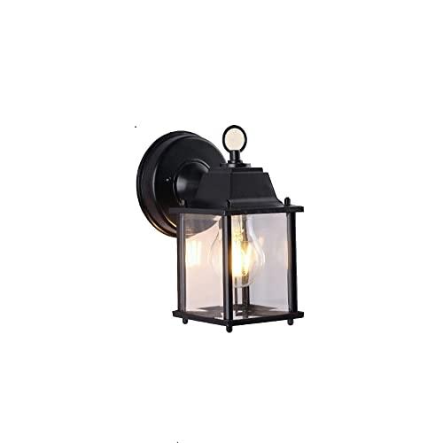 ZCCLCH Lámparas de Pared al Aire Libre Jardín Patio Europeo Villa Balcón Exterior Impermeable Antioxidante Apliques de Pared Luces de Alto Brillo Lámparas de Vidrio E27 Linternas de Pared