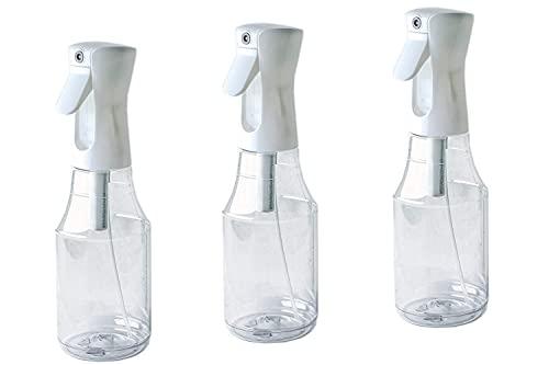 Regal Beagle Fine Mist Spray Bottle - with Flairosol Technology (24 oz, 3-pack, White Sprayer, Clear Bottle)