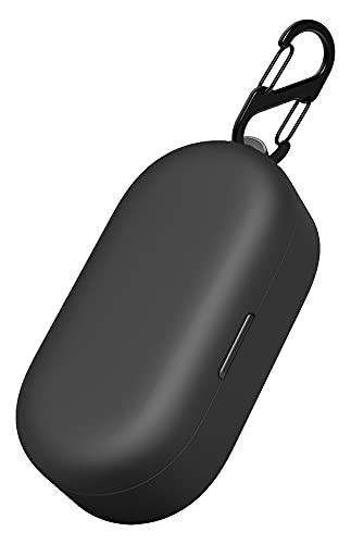 Geiomoo Silicone Carrying Case Compatible with TOZO T10, Portable Scratch Shock Resistant Cover with Carabiner (Black)