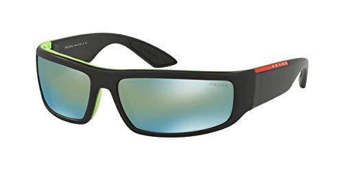 Prada LINEA ROSSA 0PS 02US Gafas de sol, Black/Green, 64 para Hombre