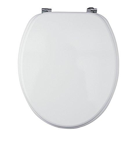 Eisl WC Sitz mit Holzkern (MDF), Weiß, ED09010