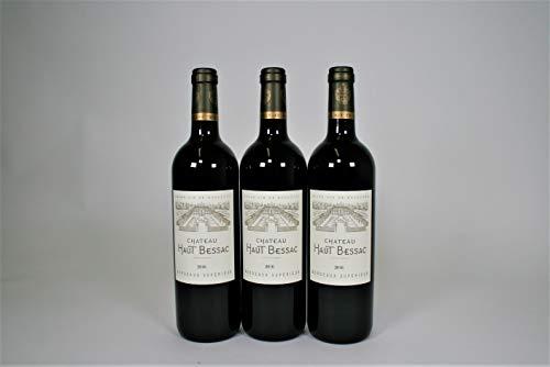 3 X Chateau HAUT BESSAC 2016 Bordeaux Superieur Vino Rosso 75 cl