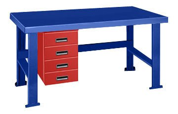 Factory outlet Pucel Alpha Drawer Benches Big Very popular Blue Work Bench With