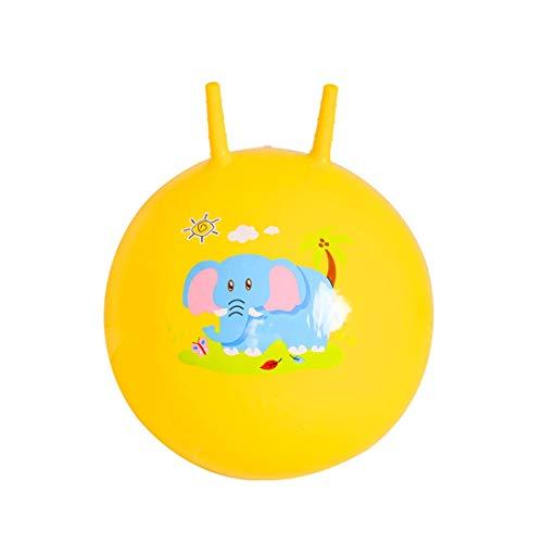 HLQTY Kindersprungball Kindergartenmassageball Spielzeug for draußen Aufblasbarer Kinderball (Color : Yellow, Size : 45CM)