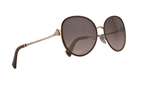 Bulgari BV6106B gafas de sol w/Rosa Gris 59mm lente 20363B BV6106B 6106B 6106B BV mujer Mate Tórtola oro pálido Grande