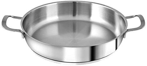 H&H Tegame Inox Elodie F/Ind Due Manici 22 Lt1,5 Pentole E Preparazione Cucina, Acciaio Inossidabile, Argento, 22 cm