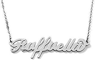 Collana nome in acciaio inossidabile. Nome Raffaella possibilità di 180 nomi femminili donna disponibili. Perfetto per ide...