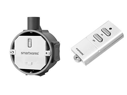 Funk Schalter Set = Funk-Einbauschalter + Mini Fernbedienung, für Leuchten und Geräte bis max. 1000W