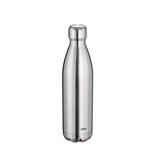 Cilio ELEGANTE Isolierflasche, Edelstahl, Silber, One Size