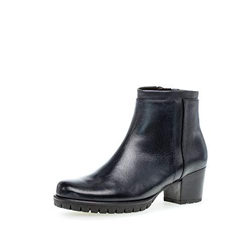 Gabor Damen Stiefeletten, Frauen Ankle Boots,Comfort-Mehrweite,Reißverschluss,Optifit- Wechselfußbett, feminin elegant,Ocean (Micro),40 EU / 6.5 UK