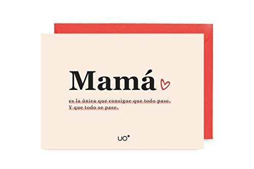 UO postal Mama le à tous handschoenen, wit (wit 001), één maat (maat van de fabrikant: eenheidsmaat) voor dames