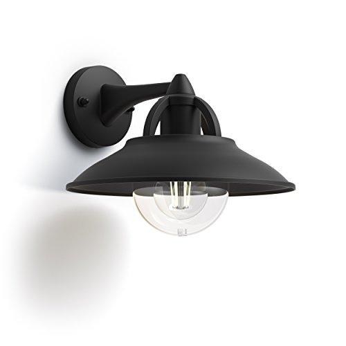 Philips myGarden Cormorant Wandleuchte, austauschbares Leuchtmittel, schwarz