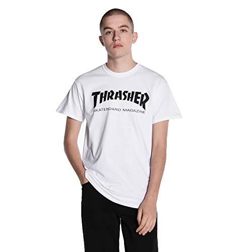 THRASHER Skate mag Camiseta, Unisex Adulto, White, M
