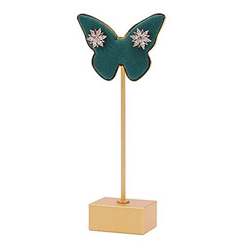 Estante de exhibición de joyería Gulang-keng, estante de metal para pendientes de mariposa, organizador de pendientes para mujer, niña, regalos, accesorios de fotografía