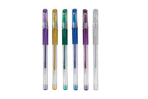 Idena 512080 - Gel-Pen Glitter, 6 Stück