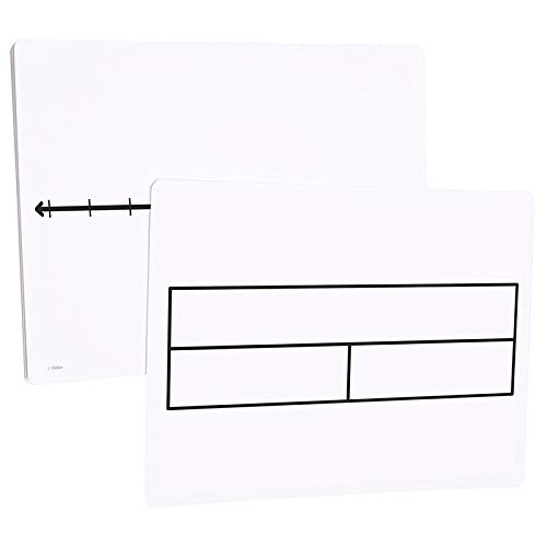 Didax Educational Resources Write-On/Wipe-Off Part-Part-Whole/Number Line Mats - Set of 10