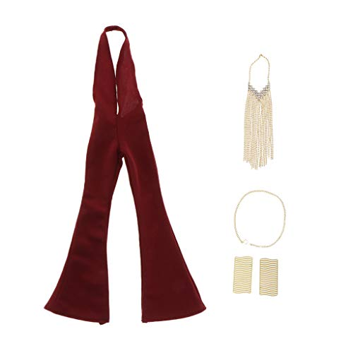 VANKOA 1/6 Weibliche Anzüge Kleidung Zubehör für 12 '' Action Figuren - rot