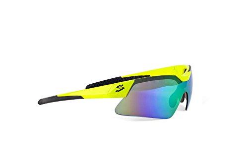 Spiuk Mamba - Gafas de Ciclismo Unisex, Color Amarillo/Negro